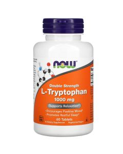 Now Foods, L-Tryptophan, Double Strength, 1,000 mg, 60 Tablets
