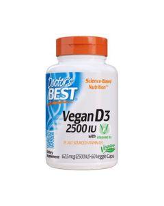 Doctor's Best - Vegan D3 - 60 v-caps. (2500IU)