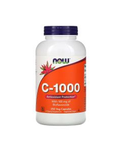 NOW Vitamin C-1000 - 250 v-caps (1000mg C + 100mg bioflavonoïden)