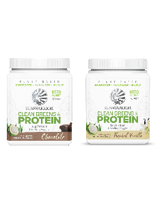 Sunwarrior - Clean Greens & Protein Tropical - Vanilla + Chocolade  - 2 x 175 Gram
