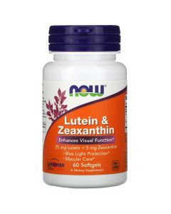 NOW3064 Lutein & Zeaxanthin - 60 soft gels