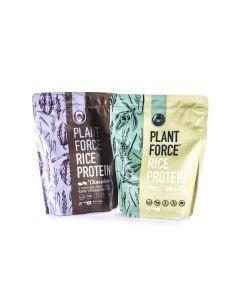 Plantforce - Rijst Proteine - Vanille en Chocolade Combinatie - 2x 800 gram