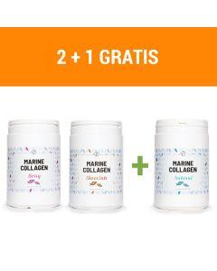 Plent - Gehydrolyseerde Vis Collageen Peptiden - 3 x 300 gram - 3 smaken
