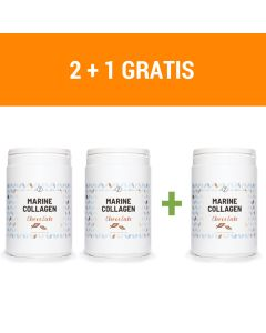 Plent - Gehydrolyseerde Vis Collageen Peptiden - 3 x 300 gram  - Chocolade - (2 + 1 Gratis)
