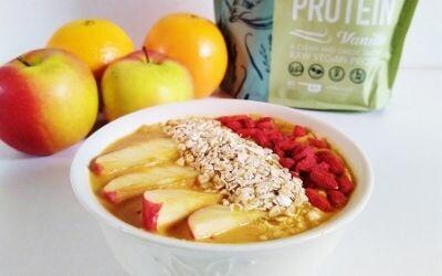 Vegan oranje smoothiebowl recept