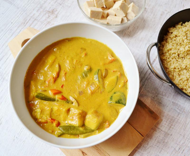recept vegan kokos curry