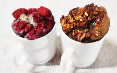 Recept vegan chocolade mug cake