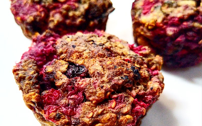 Recept vegan frambozen muffin