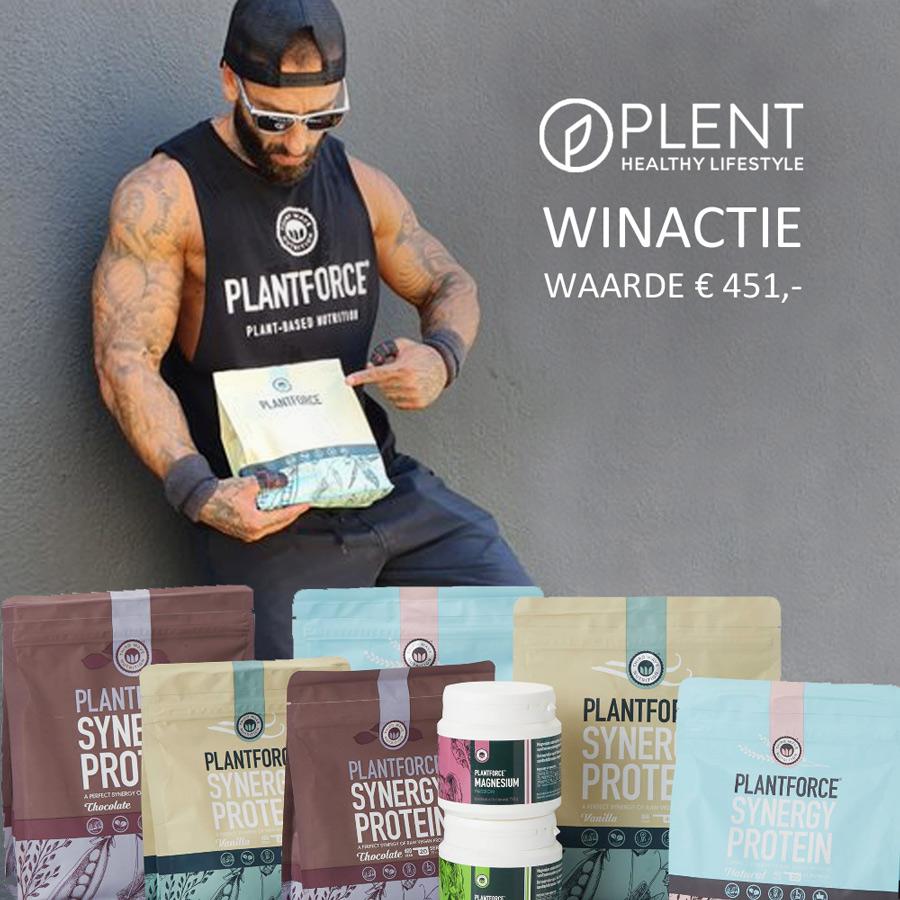 WINACTIE: Een jaar voorraad proteïne en magnesium van Plantforce